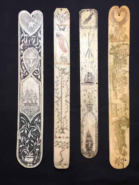 Highly carved whalebone corset busks