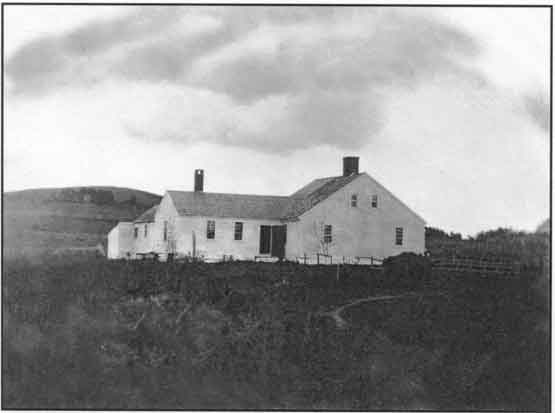 Enhanced image of the oldest known photograph of the Taylor-Bray Farmhouse, c1863