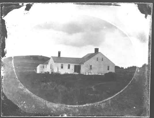Oldest known photograph of the Taylor-Bray Farmhouse, c1863